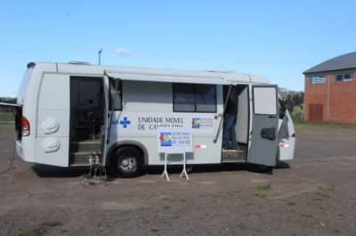 Exames preventivos poderão ser realizados em unidade móvel