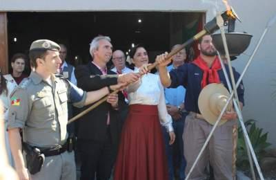 Solenidade no Sentinela dos Pampas abre os festejos farroupilhas em Candelária