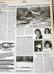 Reportagem da Folha, veiculada em 11 de março de 2003, destacou a enchente como sendo a maior de todos os tempos no município