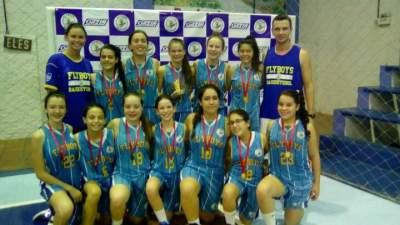 Sub-15 feminino do Flyboys é campeão da Copa FGB