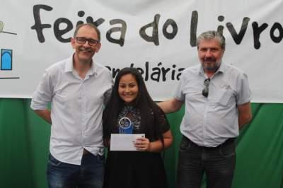 A premiação de Luiza, campeã da categoria mirim
