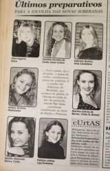 Na Folha, as candidatas ao concurso de 2004