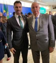 Anderson com o Ministro Osmar Terra