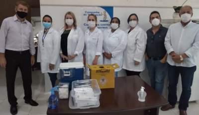 Solenidade na Casa de Cultura marca o início da vacinação contra a covid-19 em Candelária