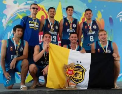 Flyboys/Gazin é tri estadual no basquete de areia masculino