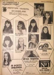 Na Folha, as candidatas para o concurso da escolha da Rainha e Princesas da I Femel