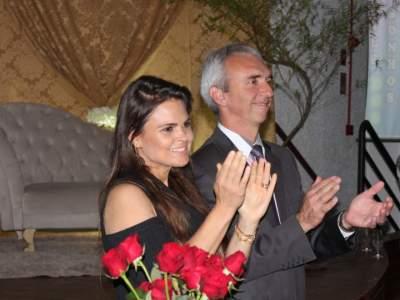 Prefeito Paulo Butzge e a primeira-dama Gabriela