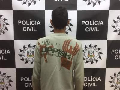 Polícia Civil cumpre mandado e prende jovem acusado de latrocínio