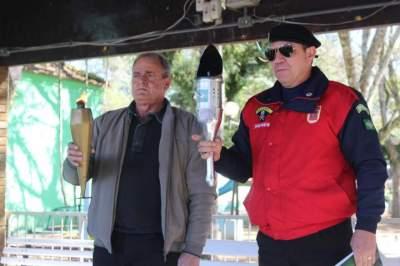 Liga da Defesa Nacional entrega chama da pátria em Candelária
