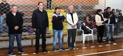 Presidente da FGB e o prefeito Paulo Butzge prestigiaram a solenidade de abertura