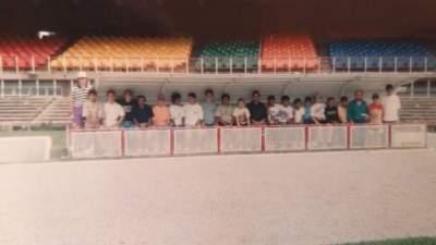 Delegação do Atlético no Mineirão em 1993