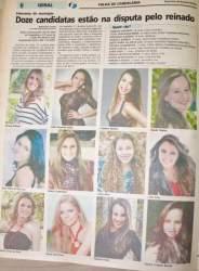 Na Folha, as candidatas para o concurso de 2012