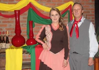 O Patrão  Rubem Rutsatz e esposa Adriana