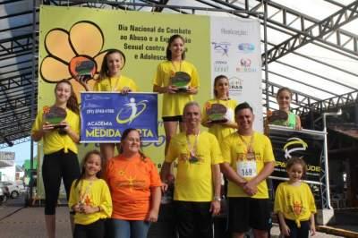 Premiação da corrida infantil 2km feminino