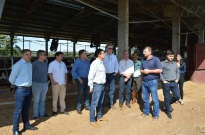 Comitiva de órgão do Ministério da Agricultura visita condomínio leiteiro