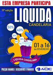 O cartaz do Liquida Candelária 2019