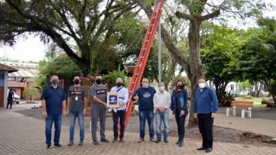 Praça Alberto Blanchard da Silveira recebe câmeras de monitoramento