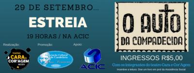 """Grupo Cara & Cor'agem irá encenar a peça """"O Auto da Compadecida"""""""