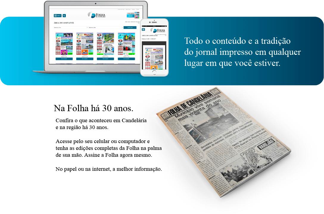 A tradição do jornal impresso em qualquer lugar que você estiver.